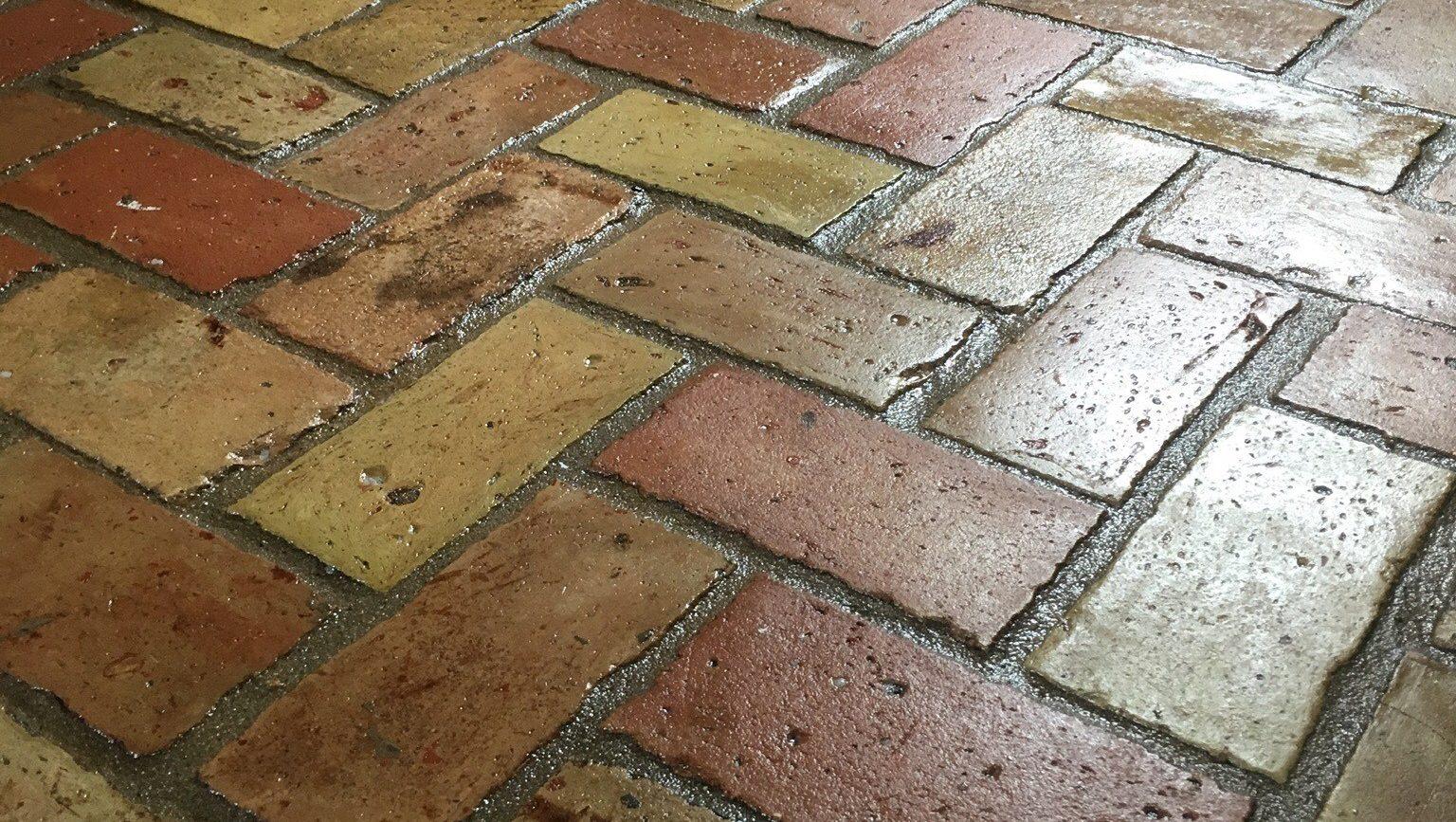 Brick Floor Cleaning